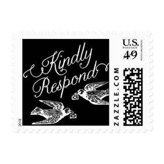 Penned - Kindly Respond - Black Postage