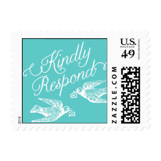 Penned - Kindly Respond - Blue Postage
