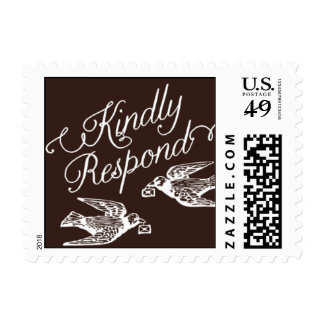 Penned - Kindly Respond - Brown Postage