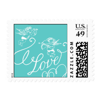 Penned - Love - Blue Postage