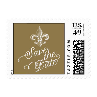 Penned - Save the Date - Gold Postage
