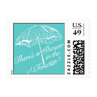 Penned - There's a Shower in the Forecast - Blue Postage