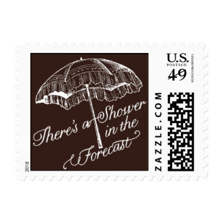 Penned - There's a Shower in the Forecast - Brown Postage