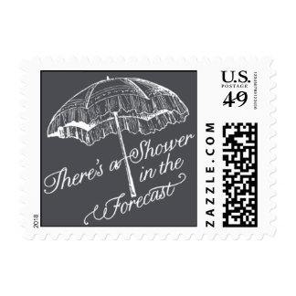 Penned - There's a Shower in the Forecast - Gray Postage