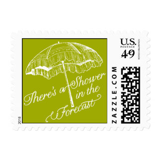 Penned - There's a Shower in the Forecast - Green Postage