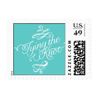 Penned - Tying the Knot - Blue Postage