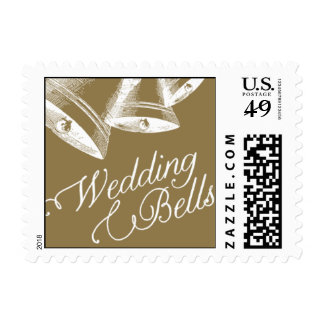 Penned - Wedding Bells - Gold Postage
