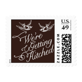 Penned - We're Getting Hitched - Brown Postage