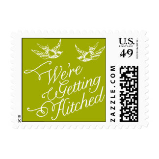 Penned - We're Getting Hitched - Green Postage