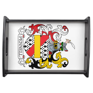 Pennell Family Crest Service Trays