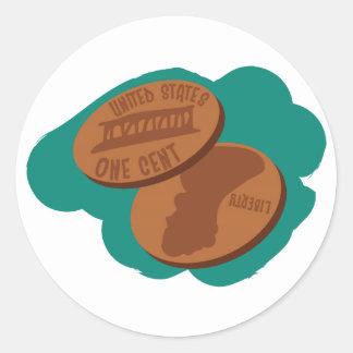 Pennies Classic Round Sticker
