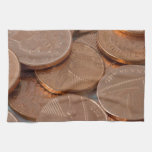pennies design kitchen towel