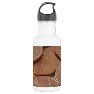 pennies design stainless steel water bottle