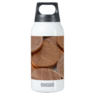 pennies design thermos bottle