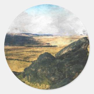 Pennine Way Classic Round Sticker