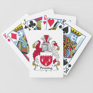 Penning Family Crest Poker Cards