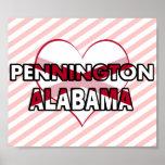 Pennington, Alabama Poster