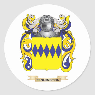 Pennington Coat of Arms (Family Crest) Classic Round Sticker