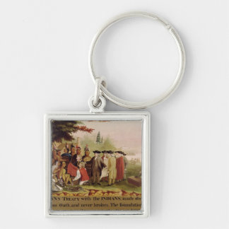 Penn's Treaty with the Indians in 1682, c.1840 Keychain