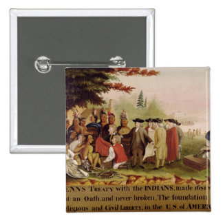 Penn's Treaty with the Indians in 1682, c.1840 Pinback Button