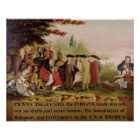 Penn's Treaty with the Indians in 1682, c.1840 Poster