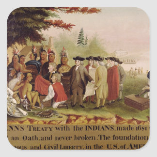 Penn's Treaty with the Indians in 1682, c.1840 Stickers