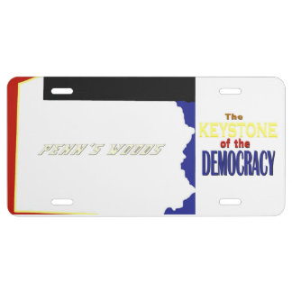 Penn's Woods: Keystone of Democracy License Plate