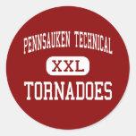 Pennsauken - tornados - Pennsauken técnico Etiquetas Redondas