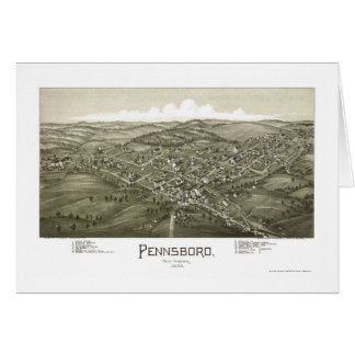 Pennsboro, WV Panoramic Map - 1899 Card