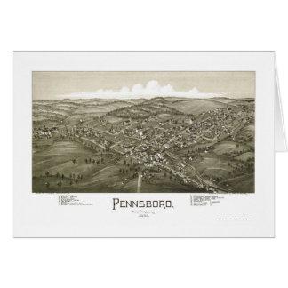 Pennsboro, WV Panoramic Map - 1899 Greeting Cards