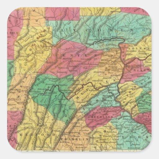 Pennsylvania 11 pegatina cuadradas personalizadas