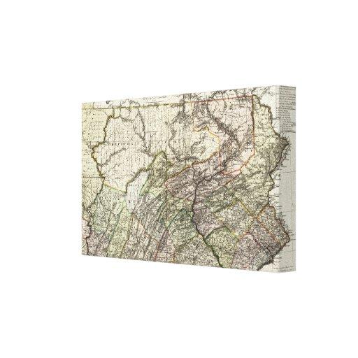 Pennsylvania 12 impresión en tela