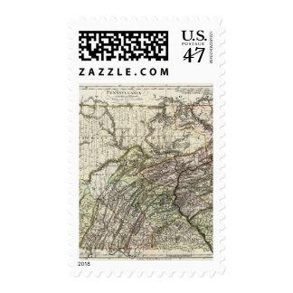 Pennsylvania 12 timbres postales