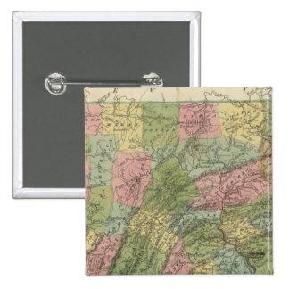 Pennsylvania 2 pin cuadrada 5 cm