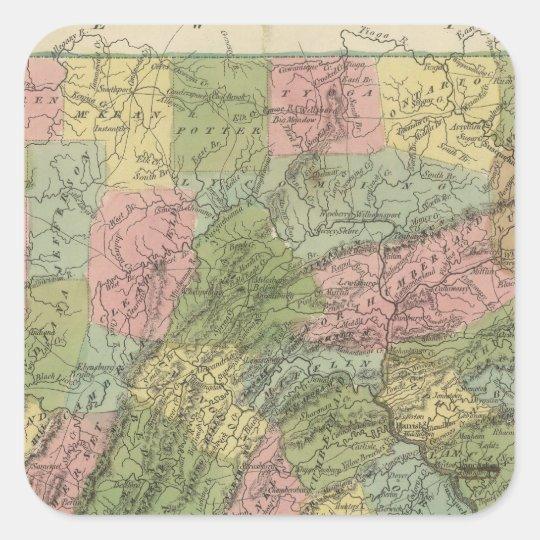 Pennsylvania 2 square sticker