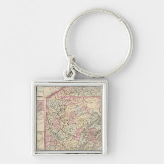 Pennsylvania 4 Silver-Colored square keychain