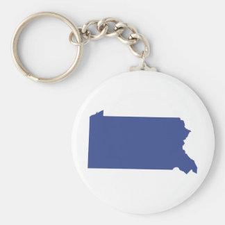 Pennsylvania -a BLUE state Keychain