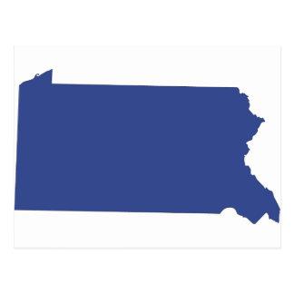 Pennsylvania -a BLUE state Postcard