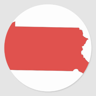 Pennsylvania -a RED state Classic Round Sticker