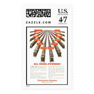 Pennsylvania ahora Railroads todo diesel Timbres Postales