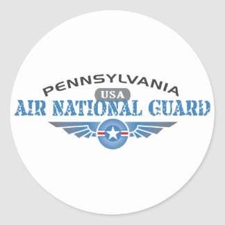 Pennsylvania Air National Guard Round Stickers