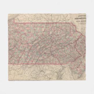 Pennsylvania and New Jersey 2 Fleece Blanket
