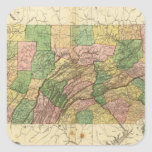 Pennsylvania and New Jersey 2 Square Sticker
