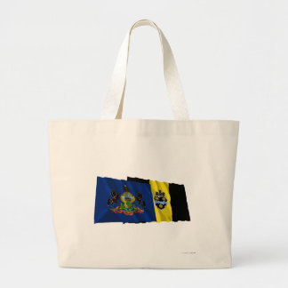 Pennsylvania and Pittsburgh Flags Tote Bags