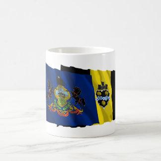 Pennsylvania and Pittsburgh Flags Coffee Mug
