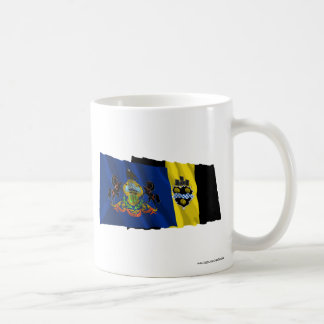 Pennsylvania and Pittsburgh Flags Mugs