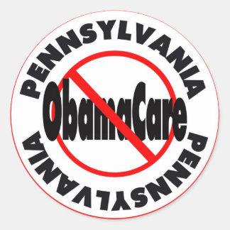 Pennsylvania Anti ObamaCare – November's Coming! Classic Round Sticker