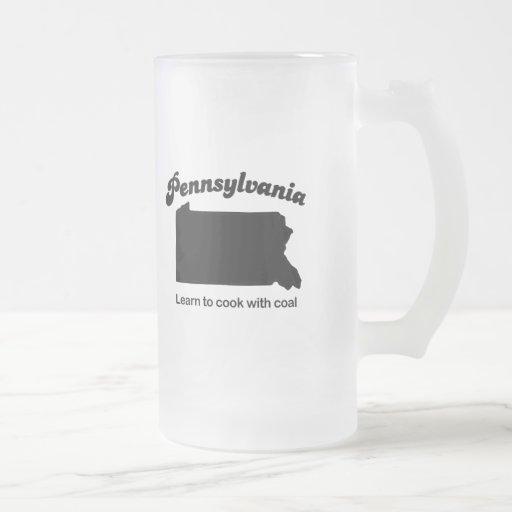 Pennsylvania - aprenda cocinar taza cristal mate