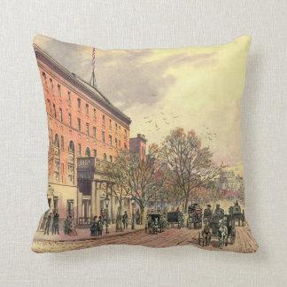 Pennsylvania Avenue and 6th Street 1860 Throw Pillow