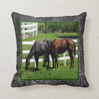 Pennsylvania Beautiful Horses on Leather Pillow